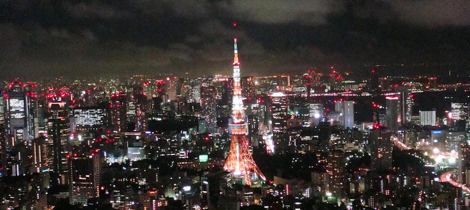 從六本木之丘拍到的東京鐵塔