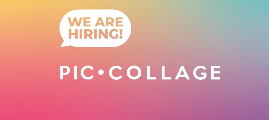 PicCollage 拼貼趣是一個創意照片拼貼app,我們正在尋找喜歡新創環境的正職夥伴及實習生!