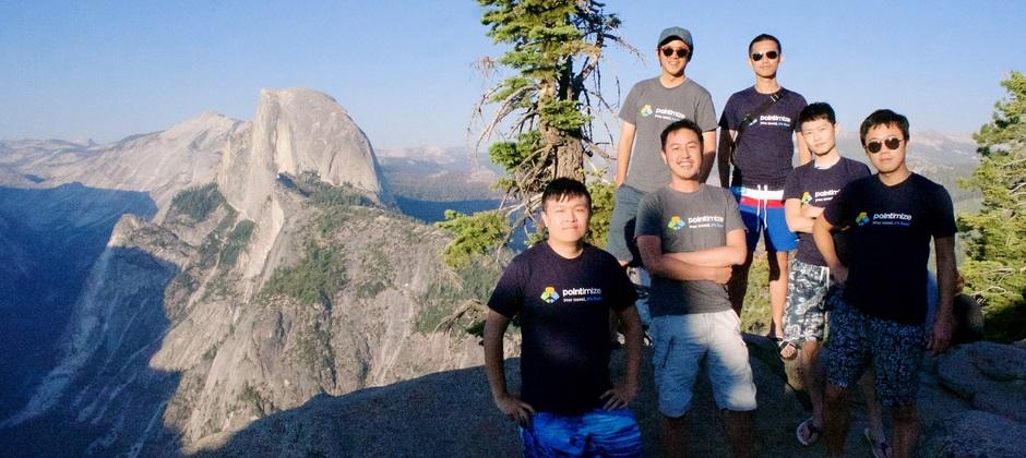 Pointimize team @ Yosemite