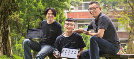 慧景科技董事長張維均與產品負責人姚立偉、資料科學家李胡丞接受今周刊訪問。