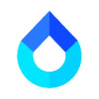 水滴信用股份有限公司,這是水滴的 logo,四種藍顏色代表多元價值。你猜水滴上面的角度是幾度?