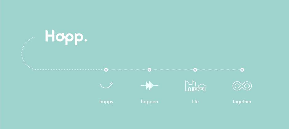 Happ. 好域集團的使命是「用最好的體驗,連結人與空間」。