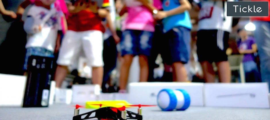 """""""Thanks Tickle app for teaching us to fly!"""" Experience the magic of programming at Makerfaire"""