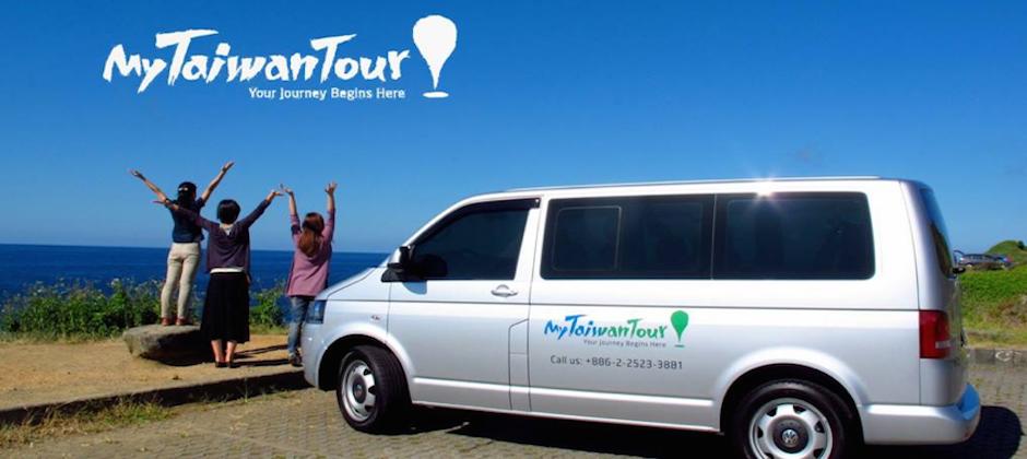 「我專帶老外玩台灣」是 MyTaiwanTour 最鮮明的廣告標語休旅車