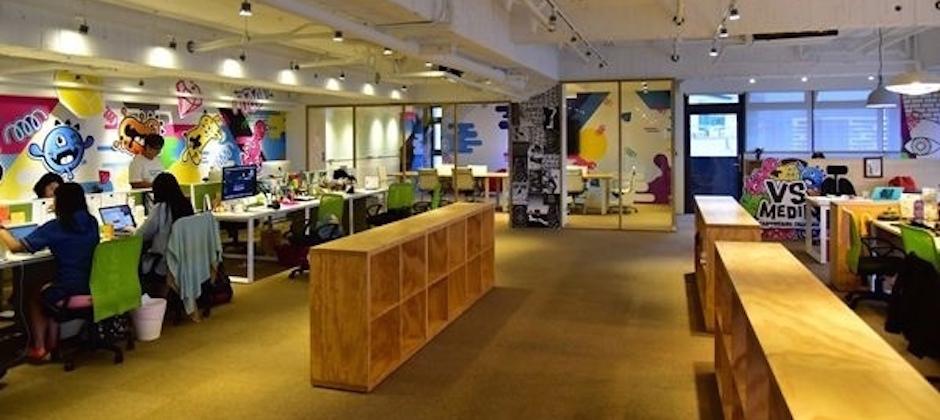 明亮寬敞的辦公空間,讓創意流動