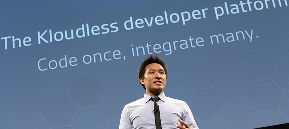 共同創辦人執行長 Eliot 再度回到 TechCrunch Disrupt Conference 中正式宣布 Kloudless 新產品上市.目前至少有 11,000 開發人員簽署使用 Kloudless 的 APIs