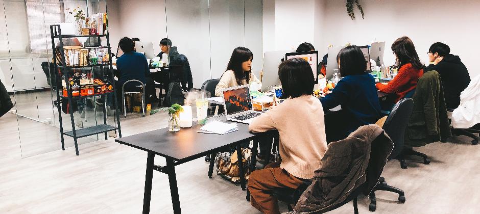股感資訊的設計團隊,有寬敞開放的工作環境