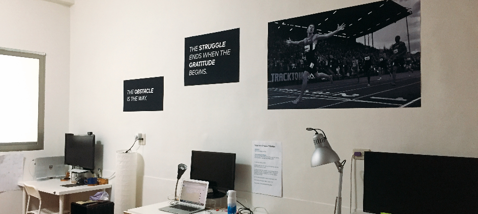 Banners and quotes to keep us motivated.