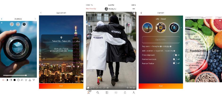 驚雲科技2018全新社群品牌Xociety UI設計