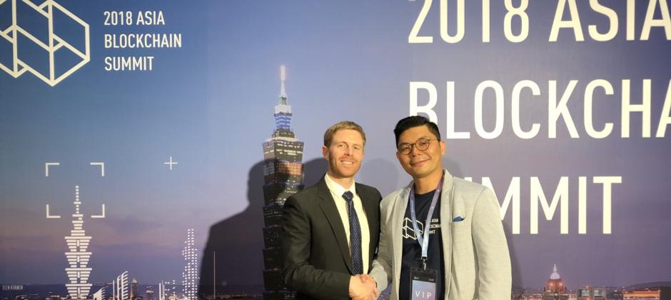 Formosa Financial 寶島金融團隊參與亞洲區塊鏈高峰會Asia Blockchain Summit (ABS) 演講與許毓仁(Jason Hsu)立委合影