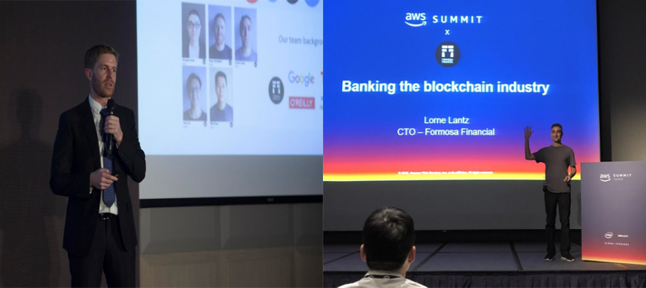 Formosa Financial 寶島金融CEO Ryan Terribilini參與亞洲區塊鏈高峰會Asia Blockchain Summit (ABS) 演講與CFO Lorne Lantz參與Amazon AWS Summit (AWS) 演講