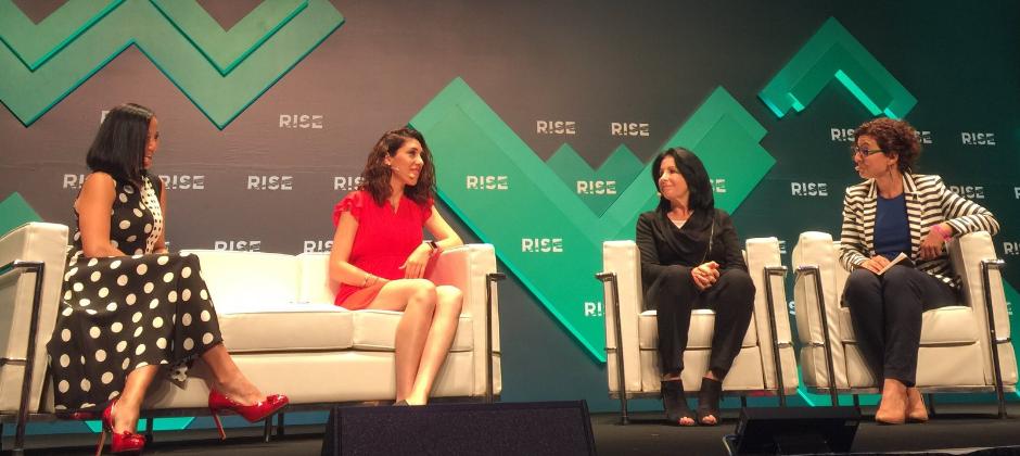 最近獲 CrunchBase 列為美國以外排名第一的女性執行長的共同創始人兼執行長 Hande Cilingir 於RISE進行研討