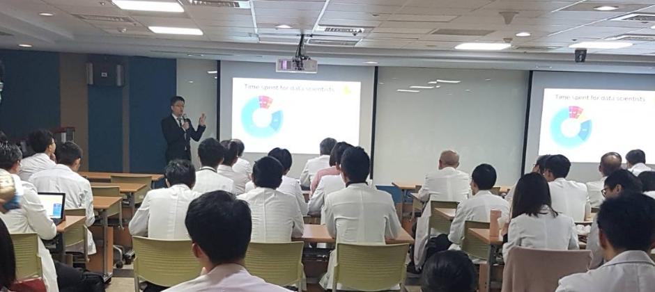 Jason 到台北醫學大學附設醫院演講