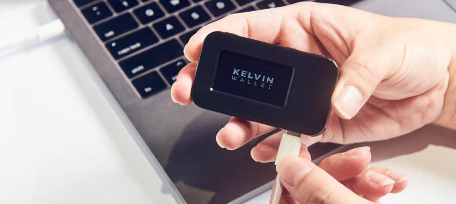 The most secure hardware wallet for cryptocurrency KelvinWallet, support Bitcoin, Etherum.
