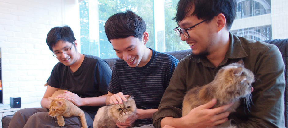 Taipei team with our office cats~