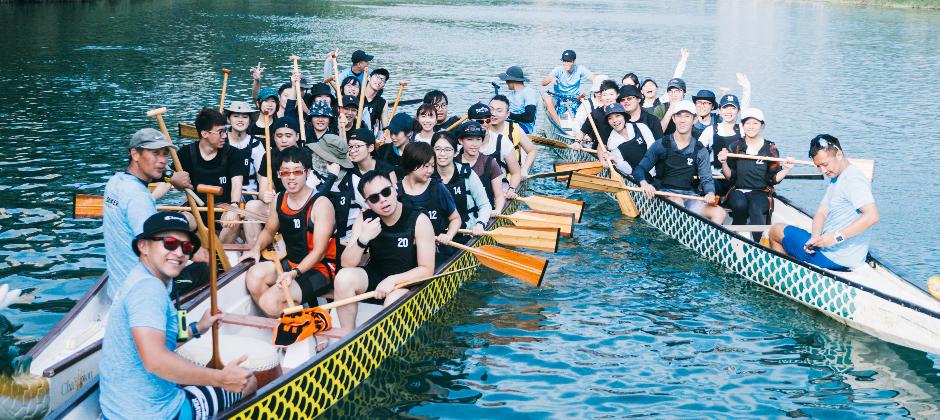 Hahow 的福委活動是划龍舟