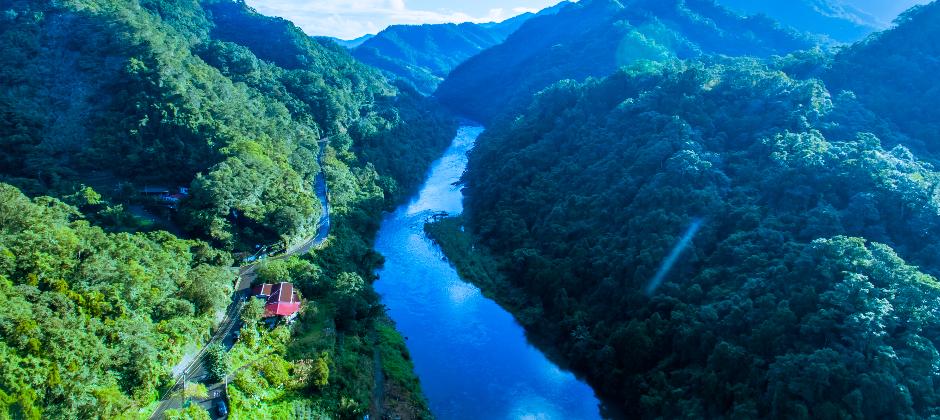 這是第一條推動流域收復的河流─北勢溪,我們在北勢溪上游支流推動『流域收復』,讓台灣的河流的生物生態,都因為農家願意捨棄農藥化肥,讓『農』與大自然共存。