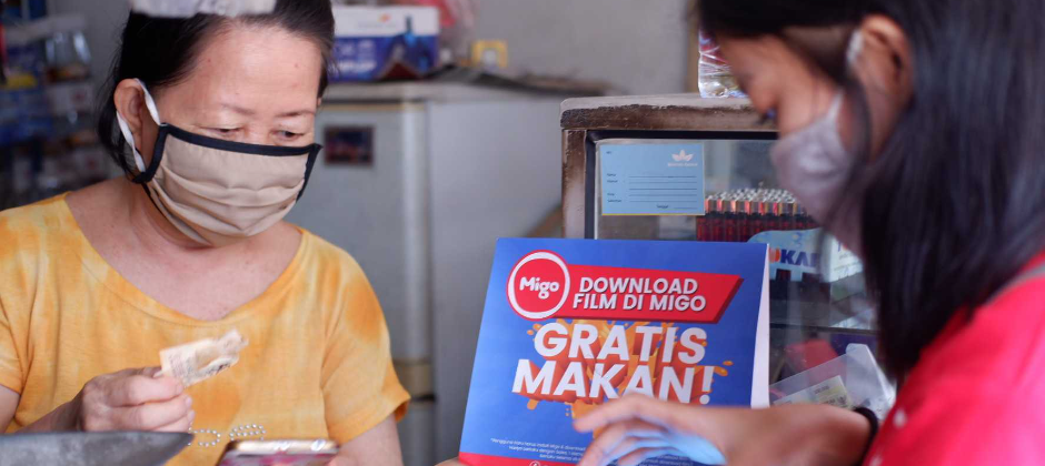 Migo's user in Jakarta.